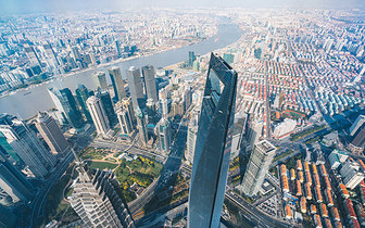 上海城市夜景俯拍图片