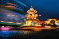 流光溢彩的文昌阁图片
