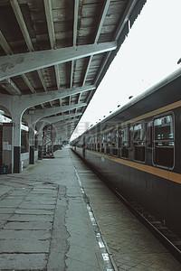 火车站复古图片
