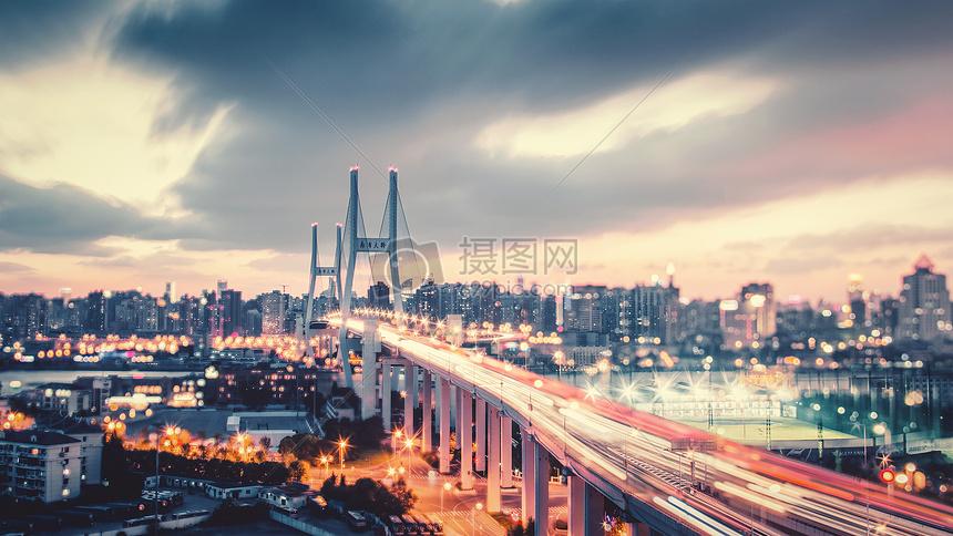 流光南浦大桥图片