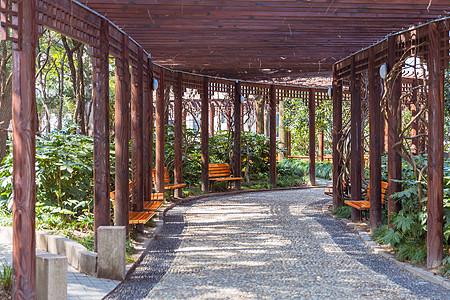 城市建筑公园绿植凉亭图片