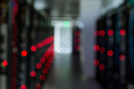 网络科技服务器机房虚化图片