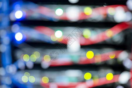 服务器通信机房数据线虚化图片
