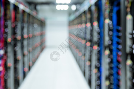 网络服务器通信机房虚化图片
