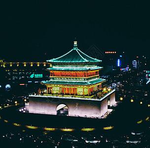 美丽的西安钟楼夜景图片