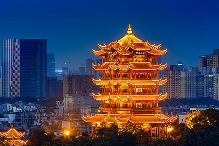 黄鹤楼夜景图片