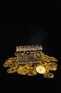 金币和宝箱图片