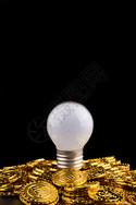 灯泡和金币图片