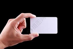 手拿白色的卡片图片