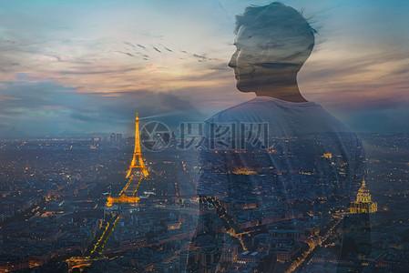 商务图巴黎埃菲尔铁塔图片