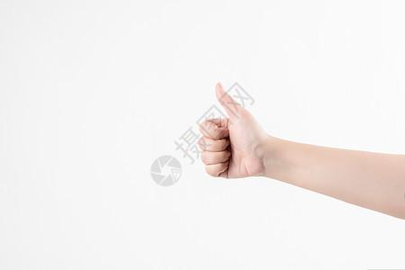大拇指特写图片