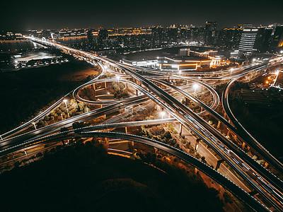 立交桥夜景图片