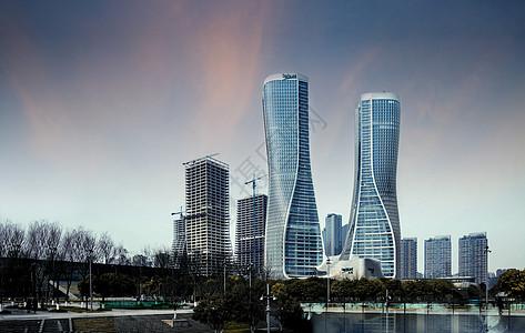 城市高端写字楼 楼盘效果图 房地产图片