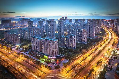 城市建筑繁华楼盘效果图图片