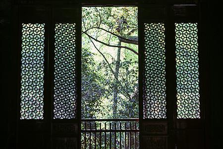 古朴老式木门门窗图片