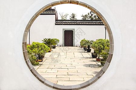 苏州园林圆门图片