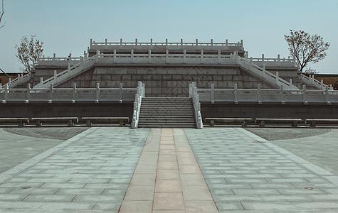 中式园林观景台楼台图片