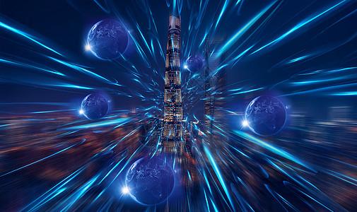 如今世界的科技进步的力量就如爆发的星球图片