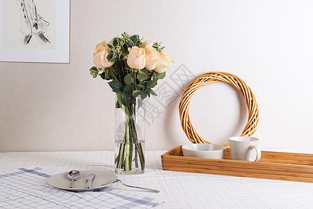 桌面布置 花艺插花图片