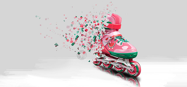 创意轮滑鞋 创意广告海报图片