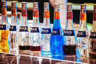 酒吧吧台 鸡尾酒洋酒伏特加图片