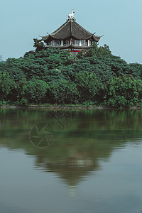 中式园林亭台楼阁景观图片