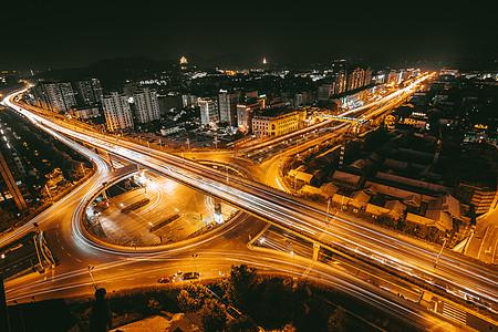 城市繁华街景 立交桥 车流图片