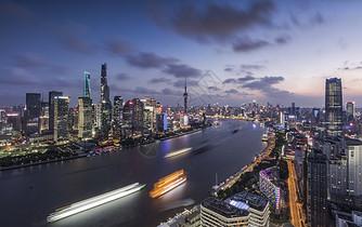 上海外滩北外滩夜景图片