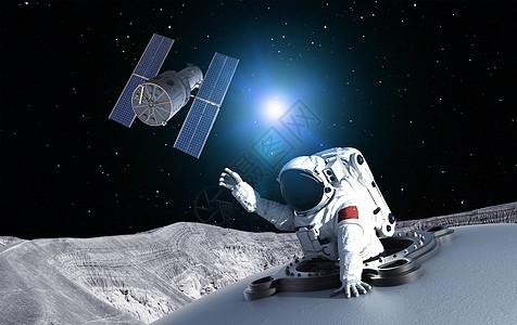 月球上的空间站图片