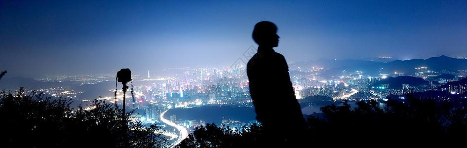 梧桐山巅·深圳之夜图片