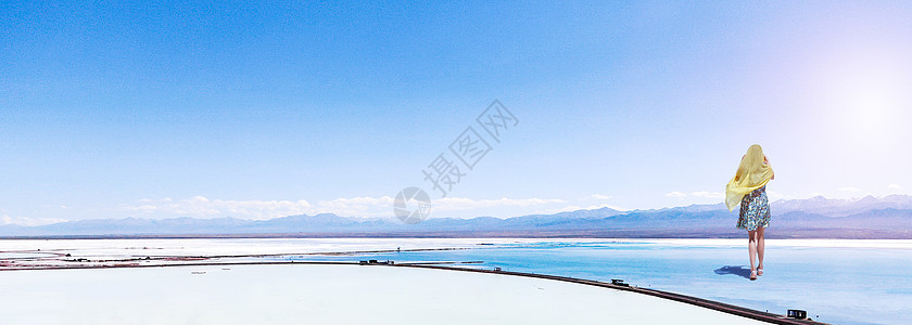 天空之境茶卡盐湖图片