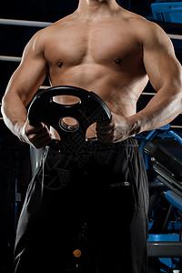 健美形体健身教练肌肉展示图片