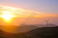 日出风车图片