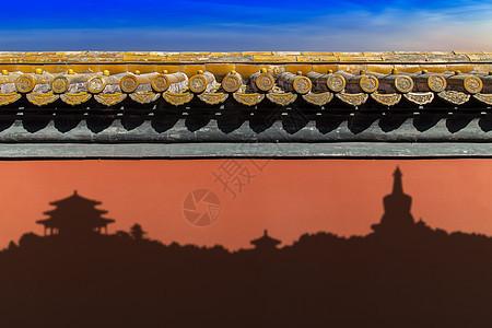 古城之光影图片