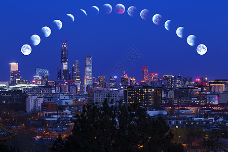 月食下京城图片