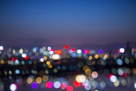 模糊状态的夜景城市图片