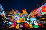 上海城隍庙鸡年元宵灯会图片