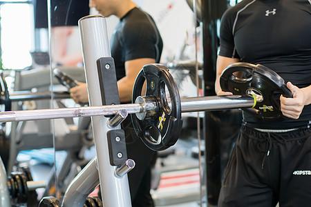 健身房装哑铃片图片