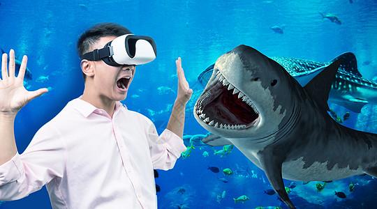 虚拟现实大鲨鱼图片