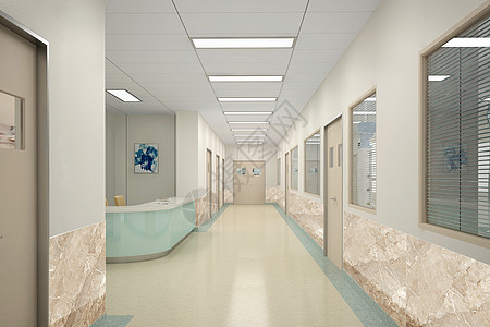 医院走廊效果图图片