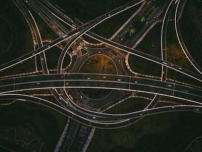 立交桥航拍图片