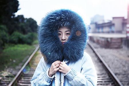 冬季美女图片