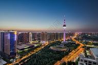 陕西省电视塔夜景图片