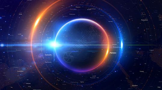 炫光科技地球背景图片