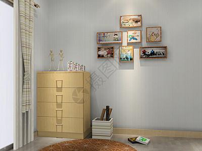 优雅的鞋柜背景墙图片