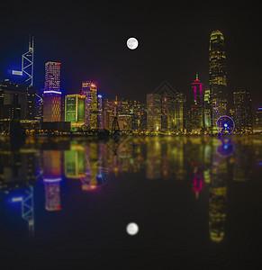 维多利亚港明月图片