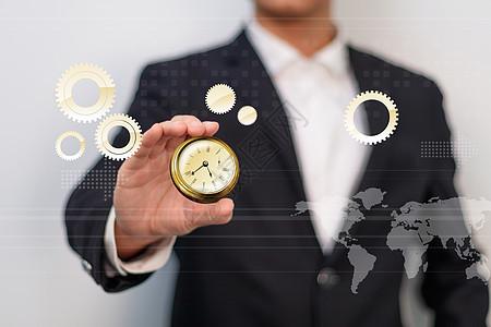时间即金钱概念工作高效率图片