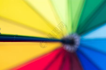 彩虹伞晴雨伞色彩图片