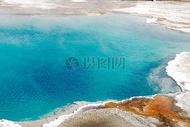 美国黄石公园温泉水图片