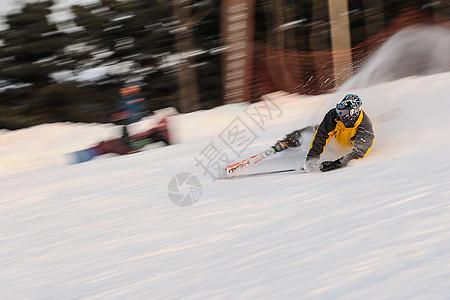 户外活动高山滑雪图片